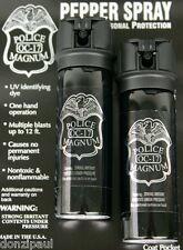 2 pack Police Magnum OC-17 mace pepper spray 3oz ounce flip top stream security
