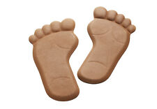 Garten Deko-Füße Paar aus Metall rost-braun