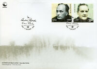 Norway 2018 FDC Andre Bjerke Hans Borli 2v S/A Set Cover Famous People Stamps