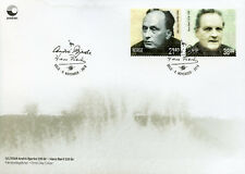 More details for norway 2018 fdc andre bjerke hans borli 2v s/a set cover famous people stamps