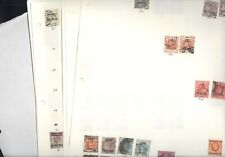 Great Britain, Offices, Excellent Assortment of Stamps hinged on pages