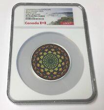 2017 Canada S$20 Kaleidoscope Maple Leaf 1  Oz Colorized Silver E/R NGC PF 70