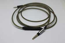 Silver Cable with Remote & Mic for Sennheiser Momentum Over On-Ear Headphones