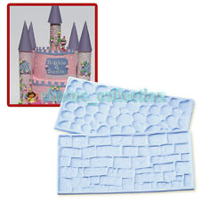 2pcs Cake Decorating Border Fondant Wall Brick Stone pattern Mold Mould Embosser