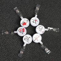 Retractable Anti-Lost Clip Nurse ID Name Card Lanyards Key Ring Badge Holder