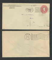 1900 RUBBER & CELLULOID HARNESS NEWARK NJ 2¢ RED WASH ADVERT COVER + LETTERHEAD