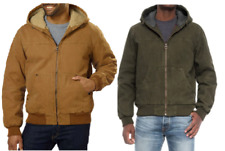 NEW!! G.H. Bass & Co. Men's Sherpa Lined Canvas Bomber Jacket Variety