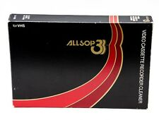 Allsop 3 VHS Video Cassette Recorder Cleaner With Cleaning Solution
