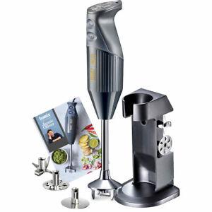 Bamix Jamie Oliver Hand Blender, Anthracite Grey, Electric Kitchen Appliance