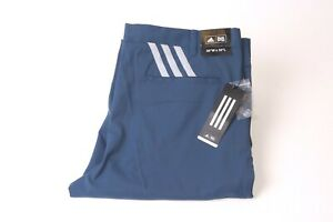 Adidas Men's Prime Stretch 3 Strip Tapered Trousers - Blue - 36/30