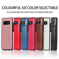 Dooqi Leather Wallet Case Card Slot Flip Cover For Samsung Galaxy Note 8