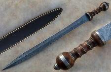 HANDMADE DAMASCUS STEEL GLADIUS SWORD KNIFE 29.50 INCHES WALNUT WOOD HANDLE