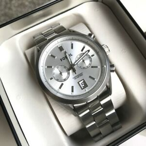 Fossil Watch * CH2968 Del Rey Chronograph Silver Stainless Steel Men COD PayPal