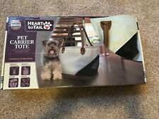 New Heart To Tail Small Pet/Dog Carrier Tote Travel Bag Purse Holds Up To 15lbs
