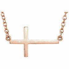 Rope Cross Pendant In 14K White Gold 23.80x11.30mm