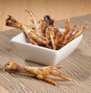 10 PIECES Chicken Feet Dog & Cats Treats Chews Dried Meaty Hard FRESH USA Made