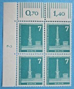 """BERLIN 1956 STADTBILDER(II) MINR.142**xw VBL DRUCKERZEICHEN (DZ) """"2""""  KW.50,00€"""