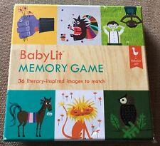 BabyLit Memory Game Matching Game 36 Pairs Literary Images 3+