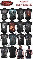 Camisetas de hombre negro Spiral 100% algodón