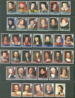 Kings & Queens Great Britain complete set-mnh Royalty-Art-Paintings(2008-12)