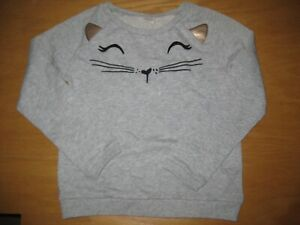 NWOT Gymboree Catastic Size 7-8 Gray Kitty Cat Pullover Shirt