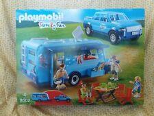 PLAYMOBIL 9502 Family Fun Caravan Camper + Pick up Truck Family New Sealed