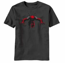 Marvel Comics Deadpool Figure Night Leaper Reflective Ink T-Shirt, New Unworn