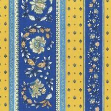 Textiles français Provençal stripe floral wreath fabric (Sweden) - 100% Cotton
