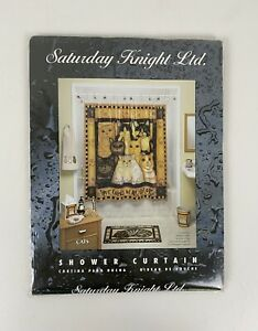 Saturday Knight Ltd. Shower Curtain, Cats, Love Comes in All Colors NEW