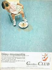 PUBLICITE ADVERTISING 115  1966  GERFLEX-CLUB  revetement sol Bleu Myosotis