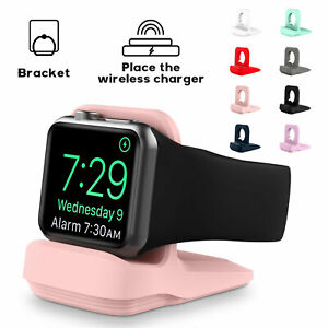 For Apple Watch Series 6 SE 5 4 3 21 Silicone Charger Charging Dock Stand Holder