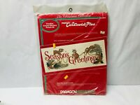 Crewel Kit, Season's Greetings, Holiday Christmas Decor Paragon Needlecraft 6944
