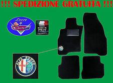TAPPETINI tappeti Alfa Romeo 156 SU MISURA con ricami e battitacco in gomma