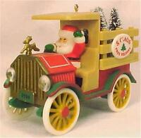 Hallmark Christmas Ornament Santa's Deliveries 1984 Vintage Truck Tree