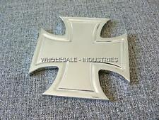 MALTESE IRON CROSS UNIVERSAL BILLET CHROME BADGE EMBLEM GRILL UTV HOT ROD RAT