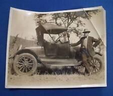 VINTAGE MOTOR CAR PHOTOGRAPH 1914-15 CADILLAC? ANTIQUE PHOTO c.WW1