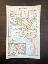 Alter Stadtplan Um 1895: Melbourne