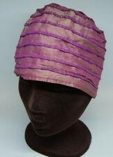 Handmade Shimmery Lightweight Cloche Hat 23″ Silvery Violet Turban Flapper Chic