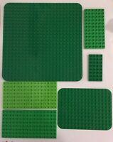 Lego Duplo Green Base Plate Lot of 6 24x24 8x16 12x16 6x12 4x8