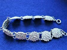 Sparkly Coro Craft Sterling BRACELET  7 1/4 Inches Long  Vintage