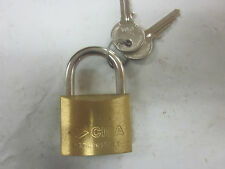CISA SOLID BRASS PADLOCK 40MM LOCK 22010-40-0 MADE IN ITALY 220 / 40 2 KEYS HARD