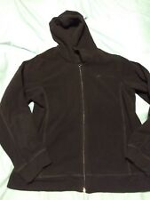 womens athletech large full zip jacket black polyester
