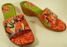 NEW $135 Icon Wedge Thong Slip On Slide Sandals Jubilation ELLE size 10