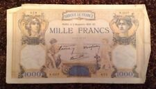 France Banknote. 1000 Francs. Dated 1938. French.
