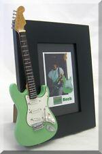 JEFF BECK  Miniature Guitar Frame Green