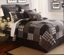 CREMIEUX 'Grayston' KING Bedskirt Black Gray Stripe NEW MSRP $50