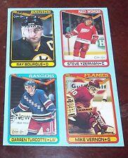 O-pee-Chee Hockey  box bottom panel Ray Bourque 1990 1991 I J K L # 1