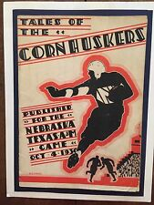 1930 Historic Texas A&M Aggies v Nebraska Cornhuskers football Program/D.X.BIBLE
