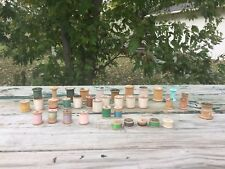 Mixed LOT 36 Vintage Thread & Wooden Spools Silk J&P Coats 30-40 Coats & Clarks
