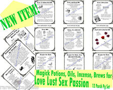 NEW ITEM* Love Lust Passion Sex Oils Incense Potions 12pgs Wicca Book of Shadows